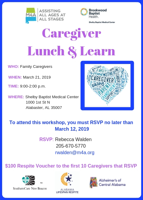 Shelby Caregiver Lunch  Learn